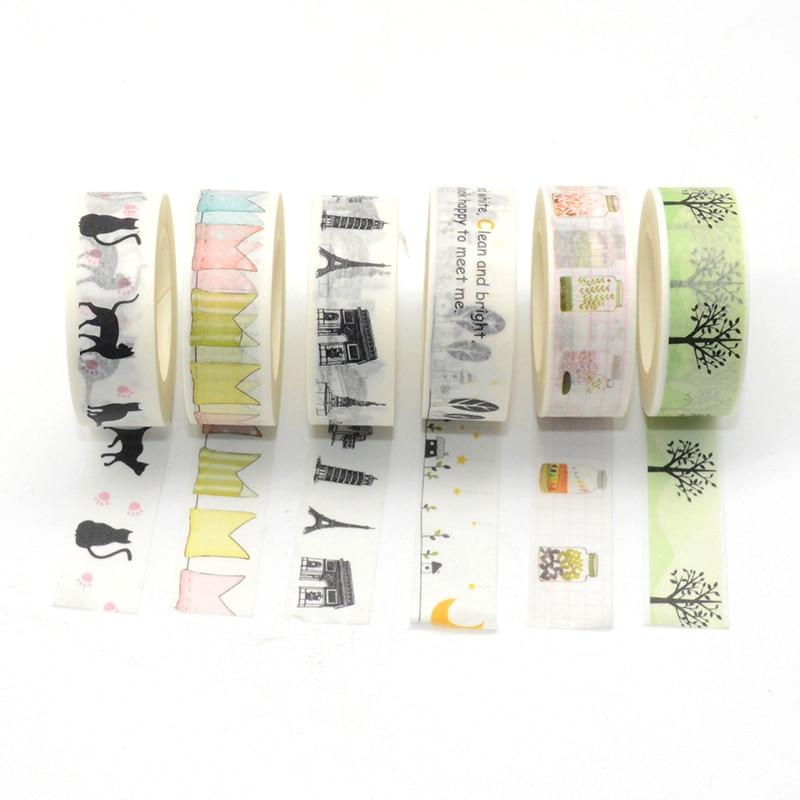 Washi Tape Animal 10m Washitape Stickers Scrapbooking Fita Adesiva Cosas Kawaii Paper Tape Scrapbook Stickers Cute Wide Black