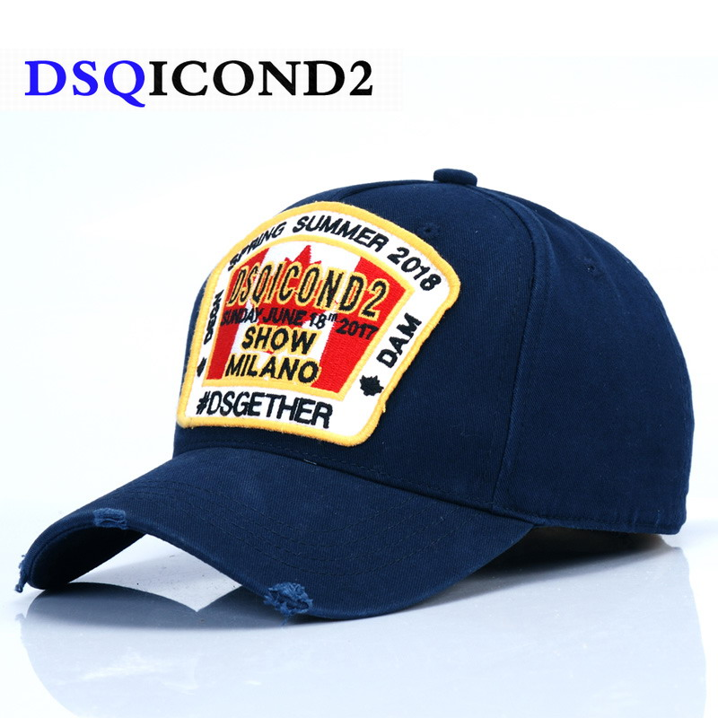DSQICOND2 Maple Leaf Cotton   Baseball     Caps   DSQ Letters High Quality   Cap   Men Women Custom Design Logo Berrett Bonnet Homme Dad Hat
