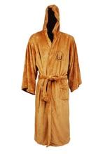 Халаты звездные войны джедаев пижамы галактики коричневый / черный ватки