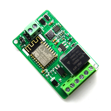 цена 1pcs 1 channel New Arrival 1Pcs Green ESP8266 10A 220V Network Relay WIFI Module Input DC 7V~30V 65x40x18mm Modules онлайн в 2017 году