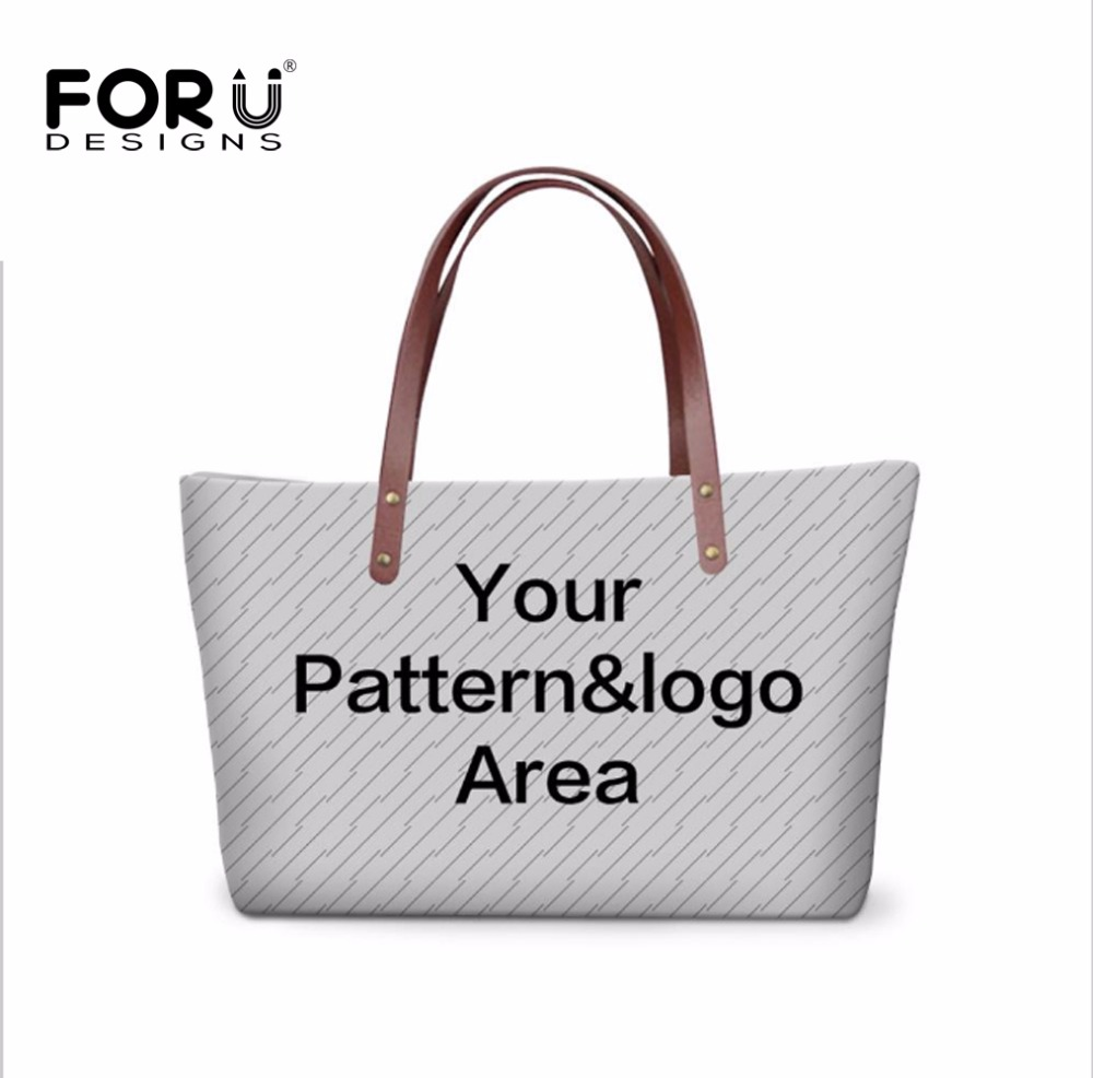 FORUDESIGNS Novelty Customize Your Personalized Pattern Women Large Handbags Tote Casual Feminine Shoulder Bag Ladies Crossbody