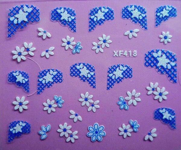 2018 новая распродажа Маникюр Гвозди 2 Простыни XF Наклейки 3D ногтей Стикеры Кружево тысячи моделей дополнительно вербовать агентов xf418
