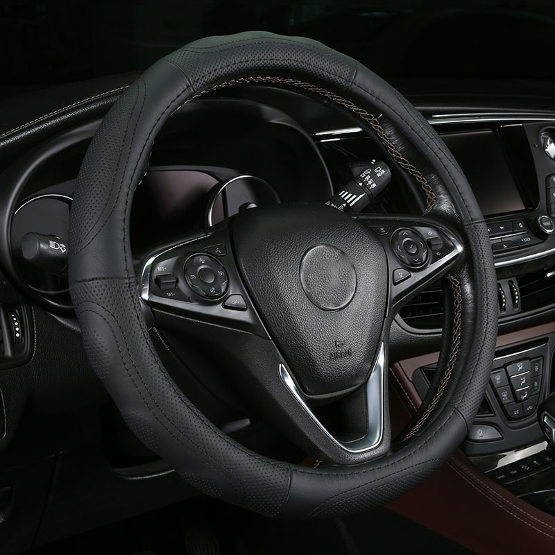 car steering wheels cover genuine leather accessories for Kia Sedona Sephia Sorento Spectra Sportage