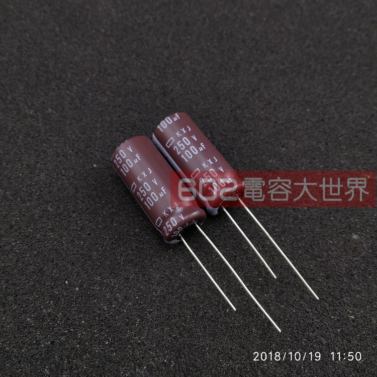 30pcs Japan Nippon Electrolytic Capacitor 250v100uf 250v Kxj 13*30 High Frequency Low Resistance Long Life 105 Free Shipping