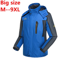 9XL 8XL 6XL 5XL 4XL Man's Pizex Waterproof Windproof Mountain Warm Coat Jacket Jacket Men Pizex Large Size Sportswear