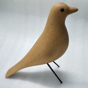 Image 5 - Uccello di legno della mascotte del regalo di compleanno del mestiere di arte della decorazione della casa delluccello della casa del faggio
