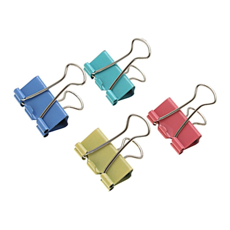 24 Assorted School Office Medium Metal Binder Clips 32 Mm