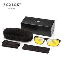 Soxick Night Vision Goggles Polarized Women Sun Glasses Fashion Unisex Sunscreen UV Protection Classic Anti Glare Car Driving