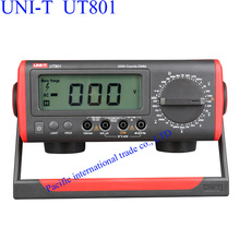 On sale UNI-T UT801 Bench Type/Desktop Digital Multimeter with Thermometer, LCD Display, Data Hold Automatic Range  Ammeter Multitester