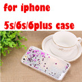 for iphone 5s case liquid silicone shield frame porta for smartphone glitter para edge cover for iphone 6s case free shipping