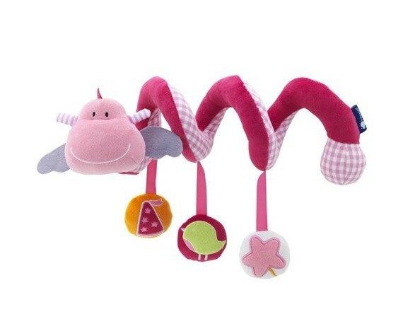 Кэндис Го! Новое поступление; милый розовый скота детские игрушки кровать круглая кровать круг с BB прибор безопасным зеркалом колокола 1 шт.