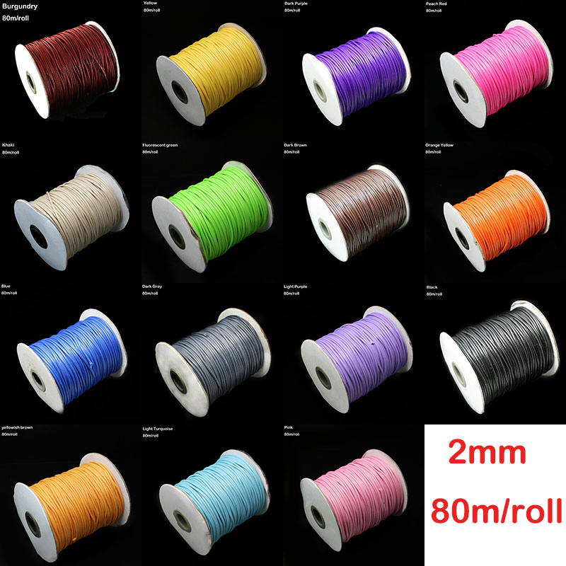 80m/lot <font><b>2mm</b></font> Stretch <font><b>Elastic</b></font> <font><b>Cord</b></font> Beads <font><b>Cord</b></font> String Strap Rope Bead Crystal Line Beading For Jewelry Making Necklace Bracelet DIY image