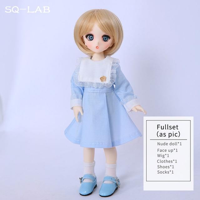 SQ Lab_ Ren Chibi 26cm 1/6 BJD SD Resin Model Hot Baby Girls Boys Dolls High Quality Gift Toys Shop Fullset OUENEIFS 5