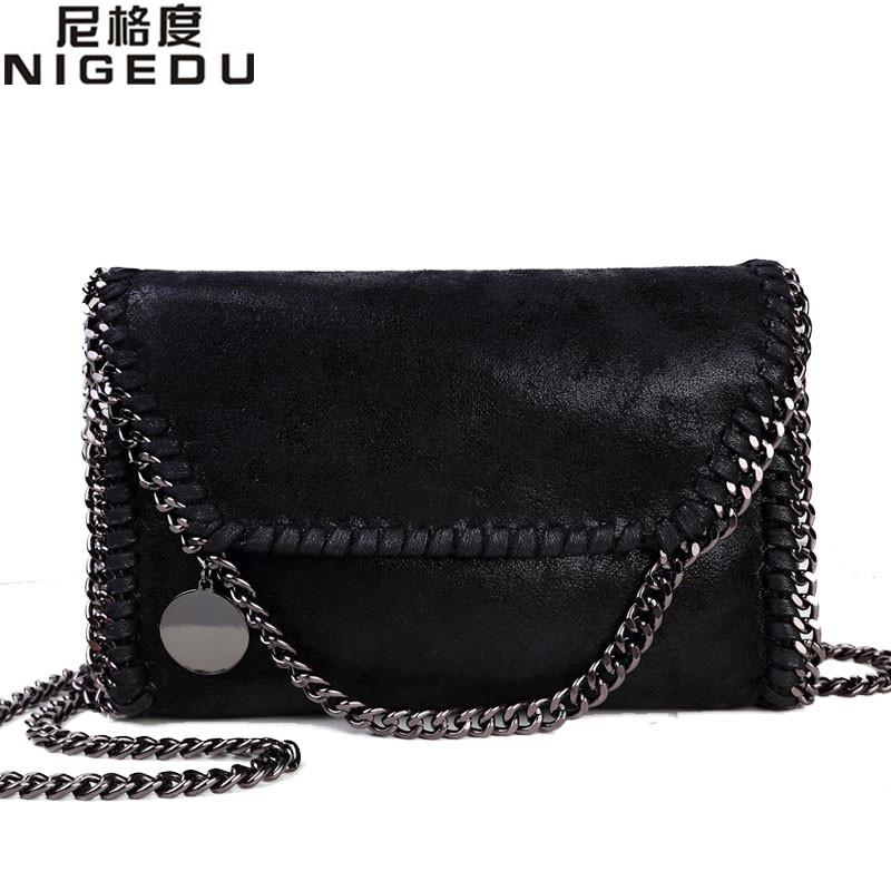 Prix pour Nigedu mode femmes design chaîne détail croix corps sac dames d'épaule sac d'embrayage sac bolsa franja de soirée de luxe sacs