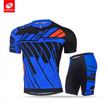 NUCKILY Cycling Suit short sleeve Summer breathable and quick dry MTB Suit Sport Men MA022MB022