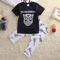 Hot Summer 2PCS Boys Sets Fashion Kids Baby Boys Short Sleeve T-shirt Top Long Pants Outfits Clothes 2-6T