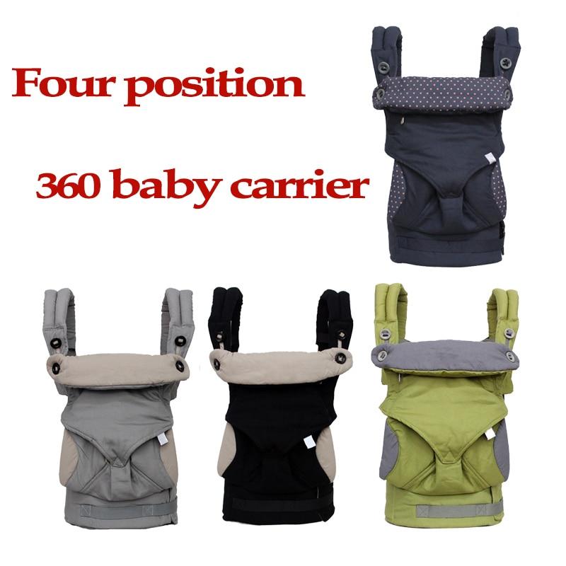 Ergonomique Porte-Bébé 360 Omni Organique Coton Quatre Position 360 Porte- Bébé Respirant 360 94b3e4a8e8c