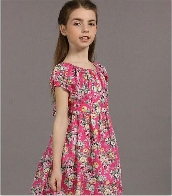 d55d68b4830a Summer Style Girls Casual Dresses Bohemian Baby Kids Girls Dresses Floral  Print Children Dress Designer Kids Clothes Size 3-8Yrs