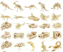 DIY 子供 3D 木製パズル動物飛行機モデル組立ビルディングキット教育のおもちゃ
