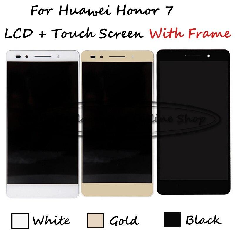 Prix pour BkWeGd LCD + TP + Cadre Pour Huawei Honor 7 PLk-TL01H PLK-UL00 PLK-AL10 LCD Display + Écran Tactile Digitizer Remplacement Smartphone