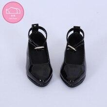 Chaussures en cuir pour poupée BJD, jouet de Mini poupée, 1/3, noirs/45, blancs, accessoires de WX3 46