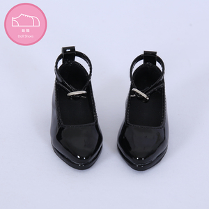 Image 1 - Shoes For Doll BJD leather shoes Toy Mini Doll Shoes 1/3  For switch BJD Dolls WX3 46 black /45 white 3 colors Doll Accessories
