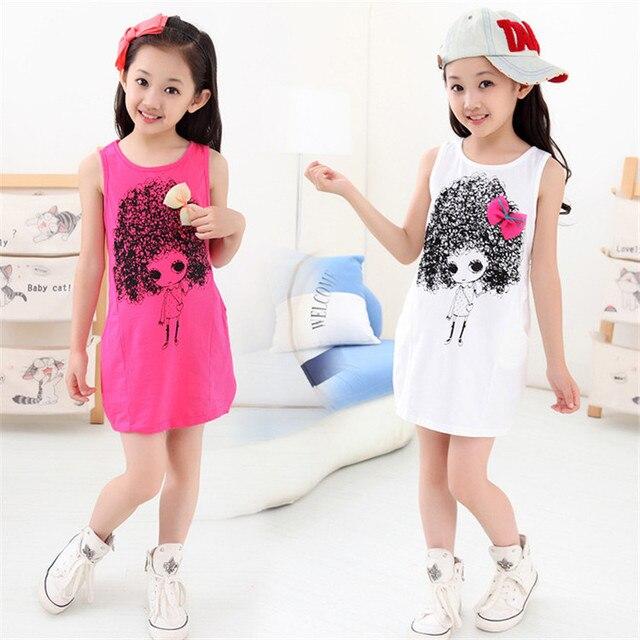 2099840cbce01 الاطفال 2019 الكورية الصيف التخليص الفتيات القطن فستان الشمس الصيف جديد الأطفال  ملابس الأطفال لطيف و