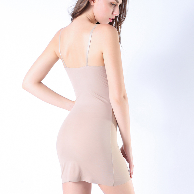 Coloriented 2019 July New bodysuits shaping Vest Seamfree corset sling Camisole Ice Silk Lingeries Shapers Women's Intimates 5