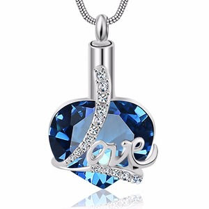 Always in my heart Locket screw Love cremation memorial ashes urn birthstone necklace jewelry keepsake pendant(China)