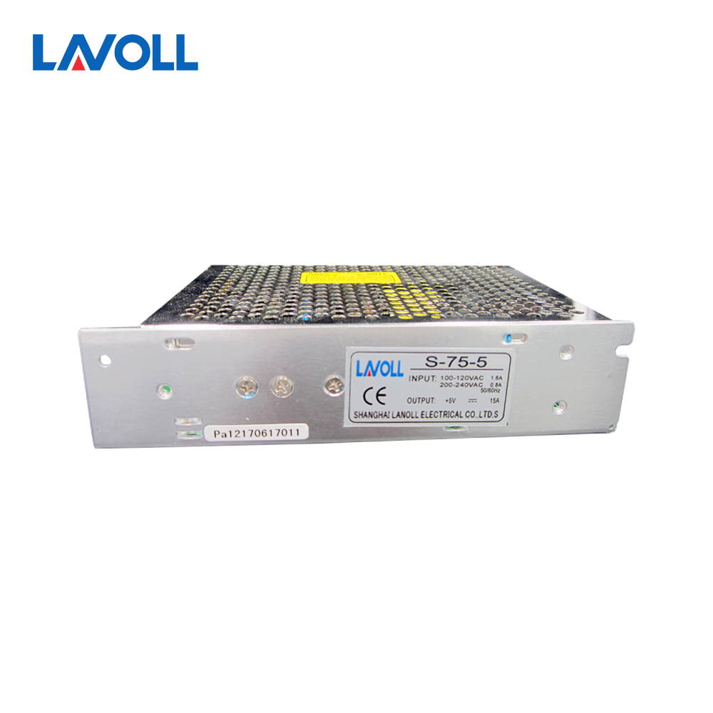75W 5V 15A Single Output Switching power supply for LED Strip light fast shipping 5m 5v ws2801 digital strip 32 ic 32led ip67 t 1000s controller 5v 15a led switching power supply