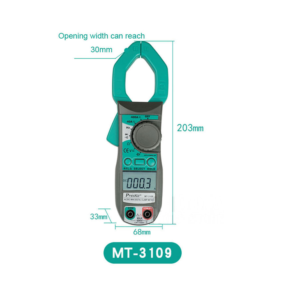 Clamp Meter ProsKit MT-3109 AC DC Current Digital Multimeter Frequency Capacitance Test Electrician Hand Tools