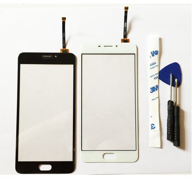 """10pcs/lot New Touch Screen Assembly For Meizu M5 Note Smart Cellphone 5.5"""" Black White Color"""