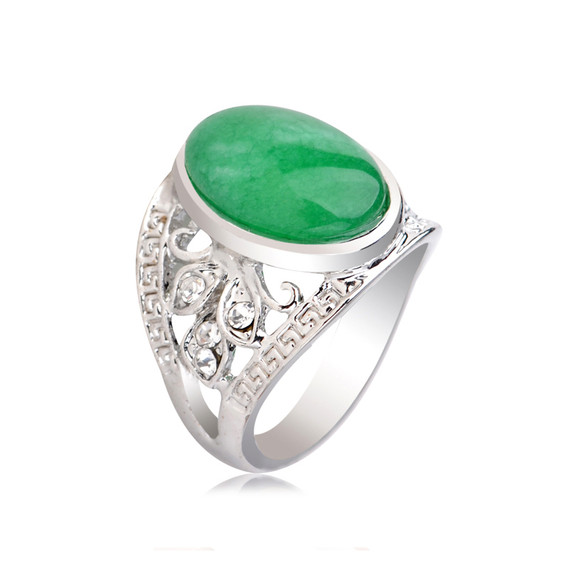 Rings Yu Xin Yuan Fashion S925 Rose Silver Ring Hetian Yu Jade Prong Setting Women Charm Ring Gift Jewelry Wide Selection; Jewelry & Accessories