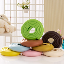 2m Child Baby Safety Products Table Edge Furniture Guard Strip Crash Bar Corner Foam Bumper Collision Protector With 3M Sticker