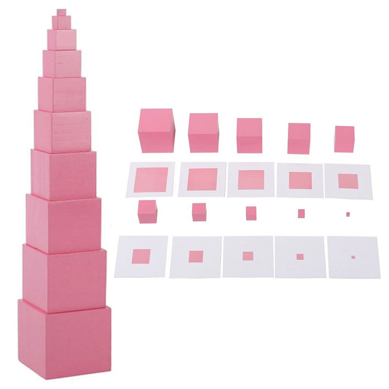 Search For Flights Montessori Paper Pink Card And Pink Tower Baby Toy Early Childhood Education Preschool Kids Educational Children Gift G2064z Home