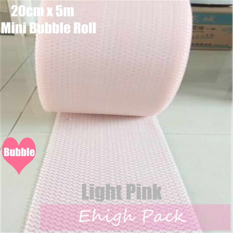 20cmx5m Light Pink Heart-shape  Air Bubble Roll Party Favors And Gifts Packing Foam Roll Wedding Decoration Emballage Bulle Warp