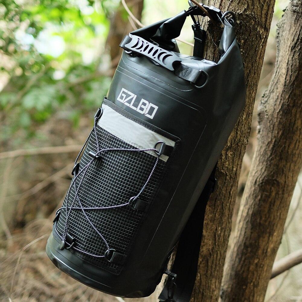 Sac à eau 30L PVC extérieur étanche sacs noir ultra-léger Camping randonnée Rafting stockage sac sec poche natation sacs d'eau