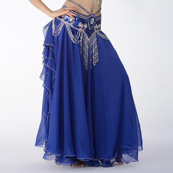Image 3 - Hot Sale 11 Colors Chiffon Belly Dance Clothing 3 Layers Full Circle Long High Waist Maxi Women Skirts for Belly Danceclothing americaskirts springskirt blouse -