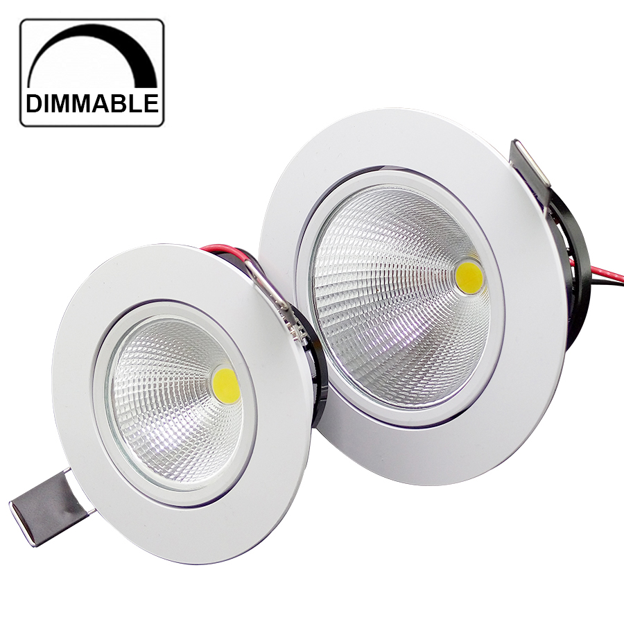 Hot sale 3w 5w 10w cob led downlight dimmable recessed lamp home led epistar spot led kitchen 110v 220v