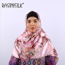 New Fashion Silk Satin Digital Printed Long Scarf Women Mulim Hijab Headscarf Beach Shawl Towel Sunscreen Wrap 70*170cm 1pc