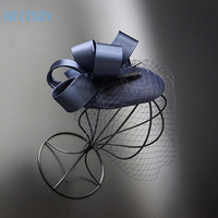 BRITNRY Elegant Birdcage Veil Black Wedding Hat Tulle Wedding Party Evening Fascinator Hats Wedding Accessories
