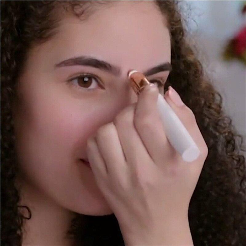 Eléctrica de cejas Trimmer mujeres Mini ceja Shaver instantánea sin dolor cara cejas pelo Epilator toque bien