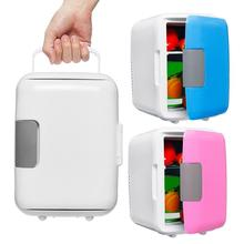 Dual-Use 4L Home Car Use Refrigerators Ultra Quiet Low Noise Mini Freezer Cooling Heating Box Fridge New