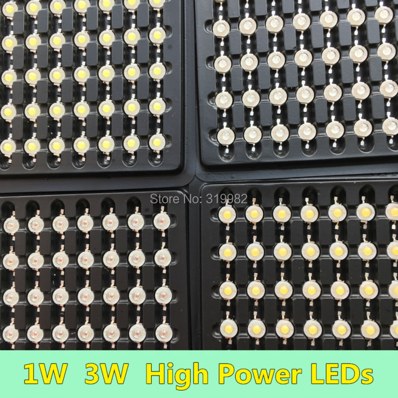 50 PCS 1W 3W LED Diode Chip High Power LEDs Lamp Source white warm red blue green yellow orange purple ice blue Copper Holder очки bro style sunnies orange yellow blue