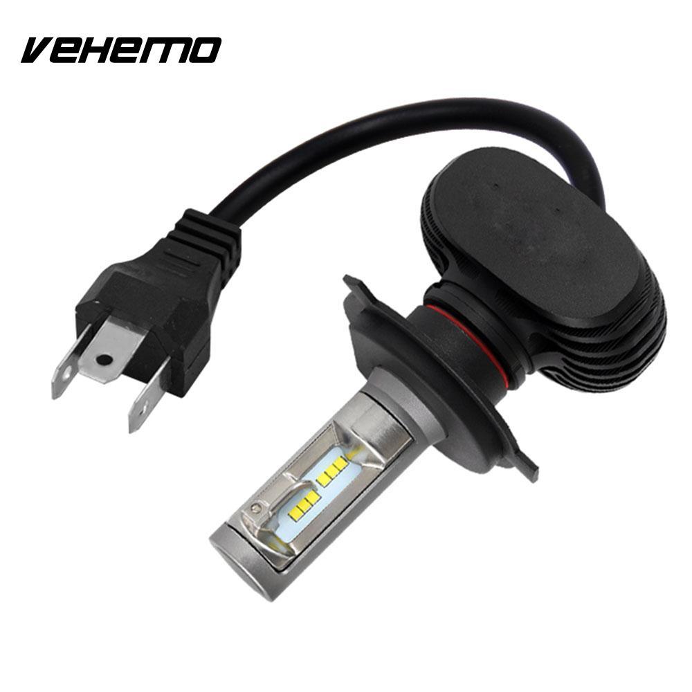 Передняя Светодиодная лампа Vehemo H4/HB2/9003, противотумансветильник фасветильник в сборе, светодиодный ная передняя фара, супер яркая, высокая м...