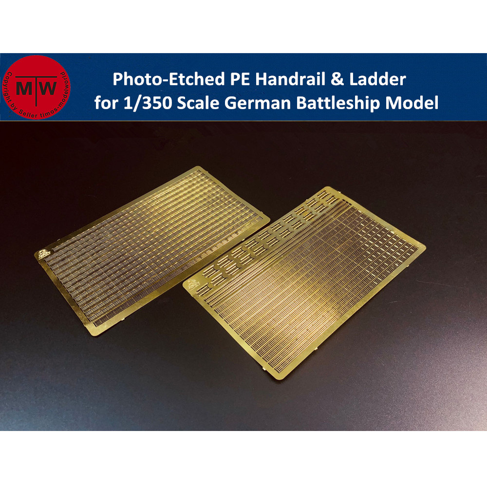 1/350 Scale Photo-Etched PE Handrail & Ladder For German Battleship Model Kit CYE018(2pcs/set)