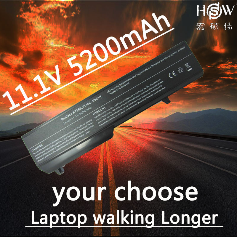 HSW new Laptop Battery 0N241H 312-0724 312-0859 451-10586 451-10655 K738H N950C T114C U661H for dell Vostro 1310 1320 1510 1520 hsw 9cell aptop battery for dell vostro 1310 1320 1510 1520 1521 2510 k738h n950c n956c n958c t112c t114c t116c u661h