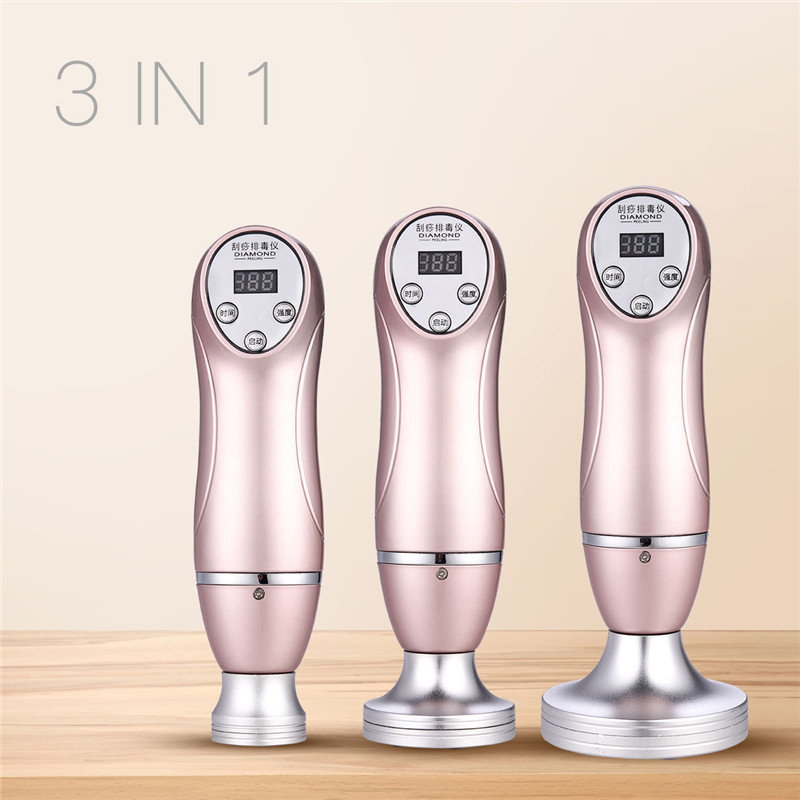 3 in 1 Digital Chinese Guasha Vacuum Body Massager Cupping Detox Machine Stimulation Therapy Back Massage Health Care Device
