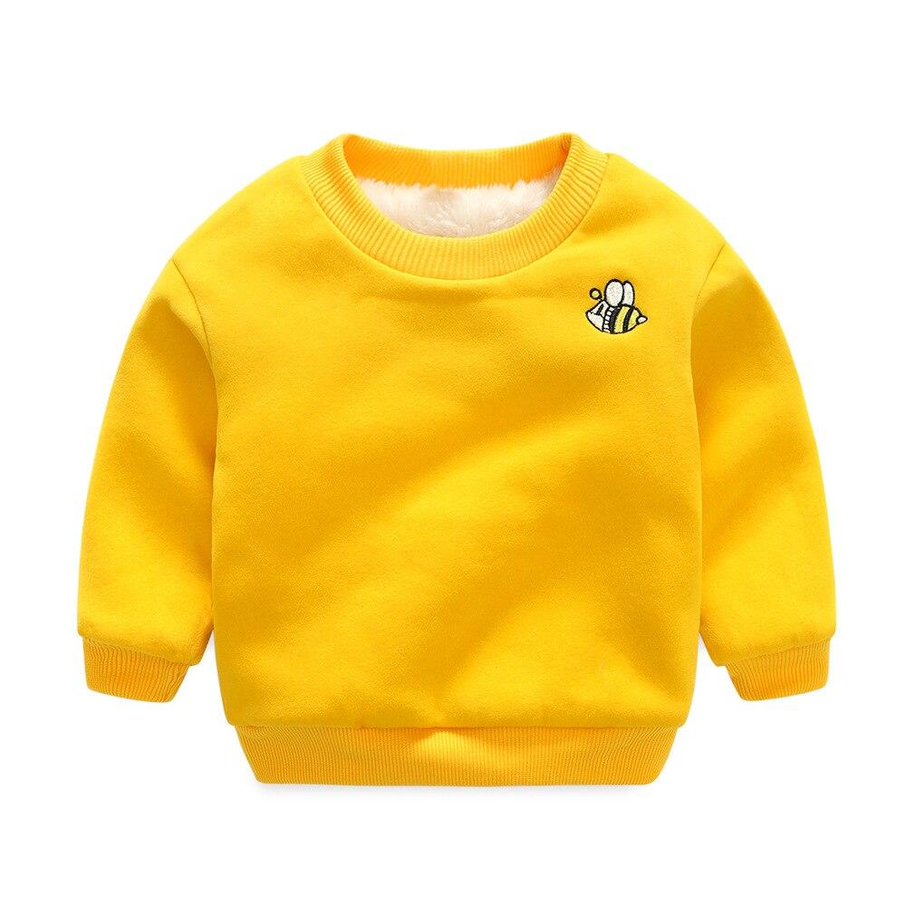 Children Autumn Winter Long Sleeve Cotton Cashmere SweaterThickening Pullover Sweatshirt Kids Jacket Clothing Boys Girls Clothes