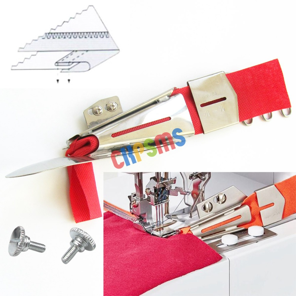 US $9 79 30% OFF|CoverStitch Machine Binder, Semi Fold Binding Attahchment  For Flatbed Machines KP 103-in Sewing Tools & Accessory from Home & Garden